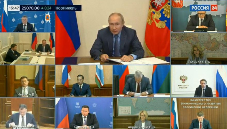 Президент поддержал предложения главы Якутии по борьбе с лесными пожарами