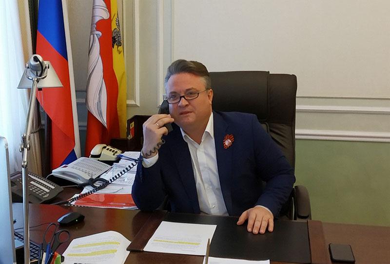 Мэр Воронежа поздравил жителей белорусского Гомеля с Днём города